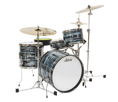 Ludwig Club Date Downbeat 3-Piece Shell Pack in Blue Strata