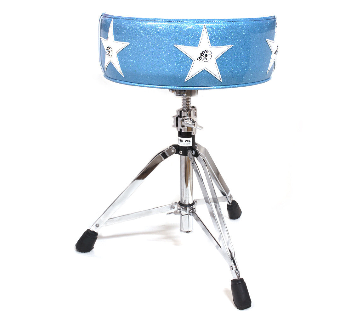 Pork Pie Deuce Sonic Blue & White Star Drum Throne