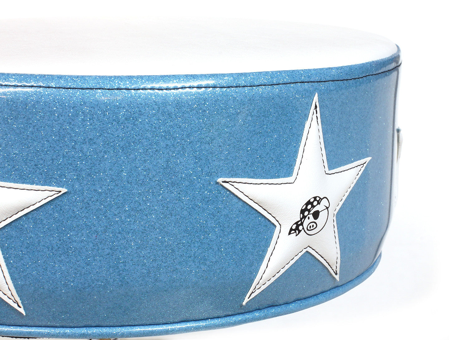 Pork Pie Sonic Blue & White Star Drum Throne