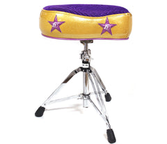 Pork Pie Purple and Yellow 'Wario' Drum Throne