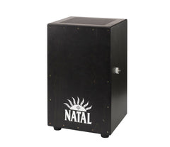 Black Cajon Black Panel - CJAN-L-SW-BB (White Logo)