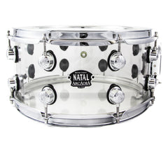 Snare drum, Natal snare drums, Clear drums,