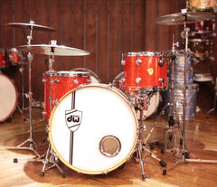 Drum Workshop Classic Series Tangerine Glass Drum Kit