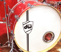 DW bass drum head with KickPort