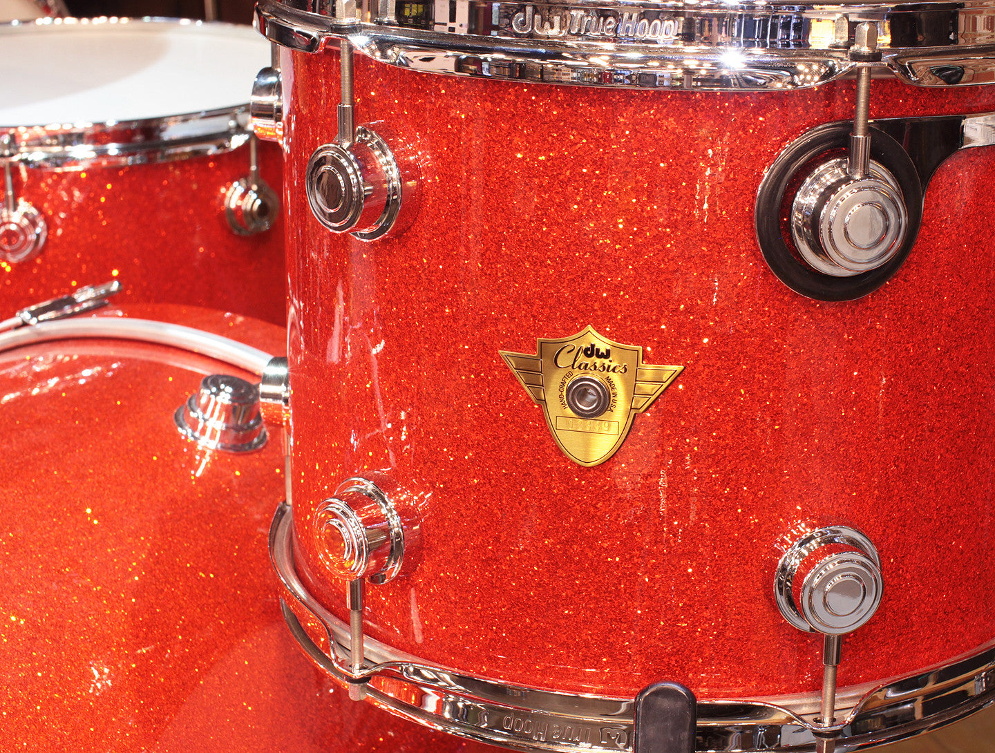 Drum Workshop Classic Series 3-Piece Shell Pack in Tangerine Glass
