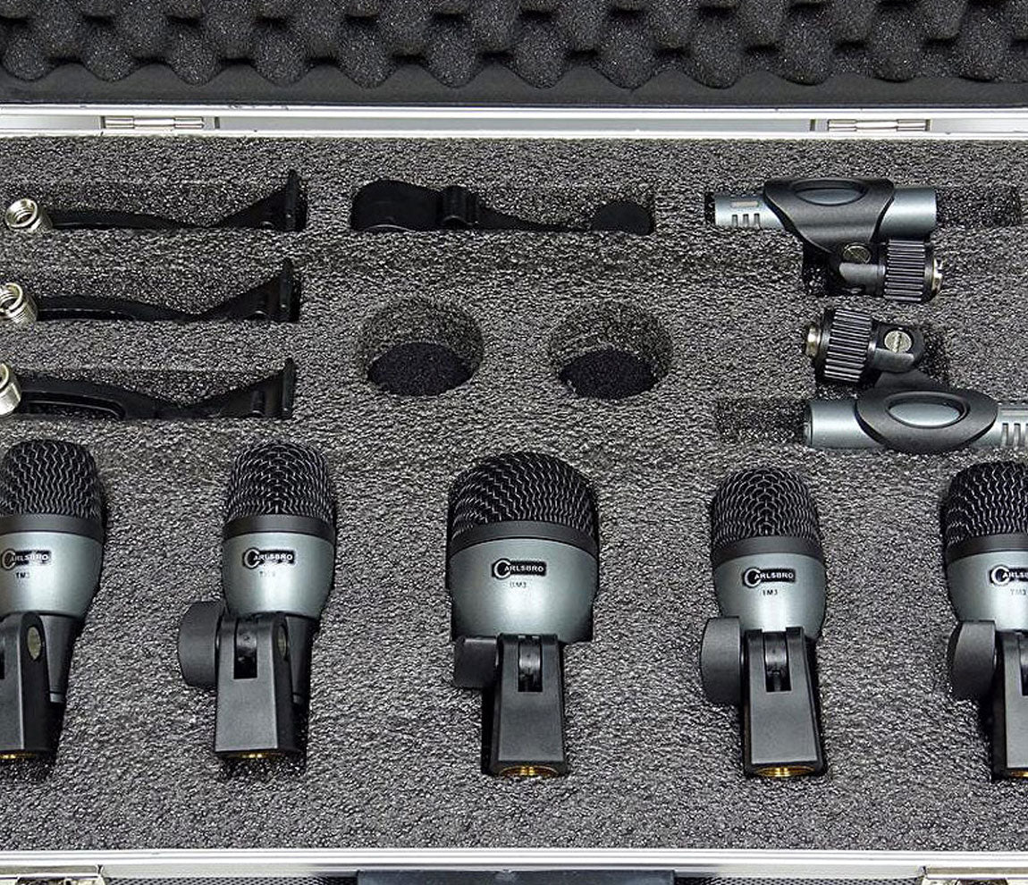 Carlsbro DM7P Drum Microphone Set in Case, Carlsbro, Microphones, Electronic Accessories, DM7P, Black