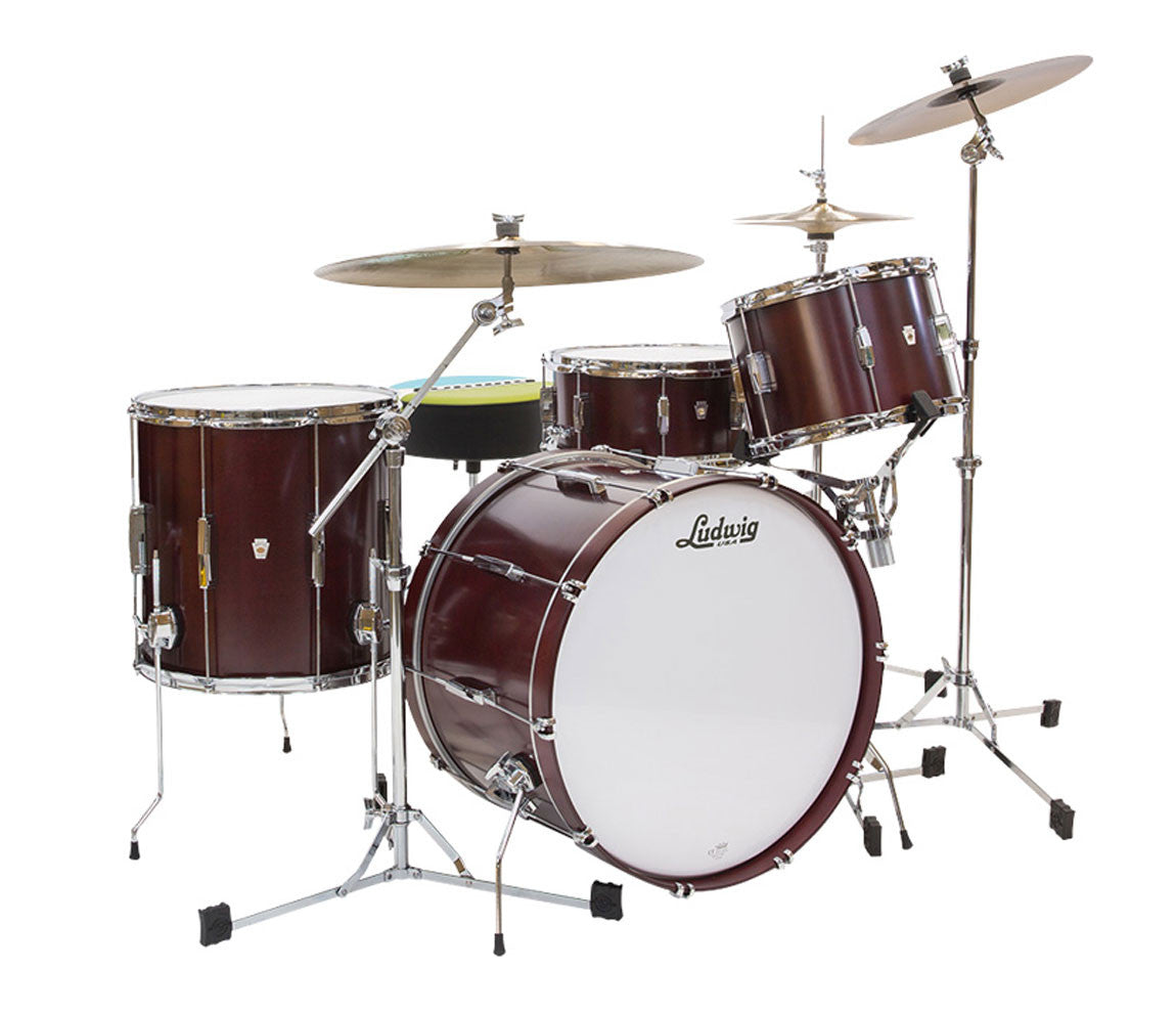 Ludwig Club Date Downbeat 3-Piece Shell Pack in Cherry Satin