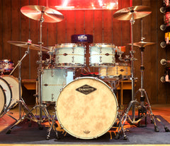 Craviotto Maple Shell Pack in Baby Blue Finish with Maple Inlay, Baseball Tops & 45's Bottom