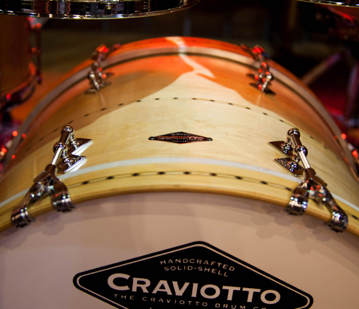 Craviotto USA Custom Shop 5-Piece Maple with Maple Inlay Drum Kit, Craviotto, Acoustic Drum Kits, Maple with Maple Inlay, 5 Piece, Craviotto USA Custom Shop, Acoustic Drum Kits