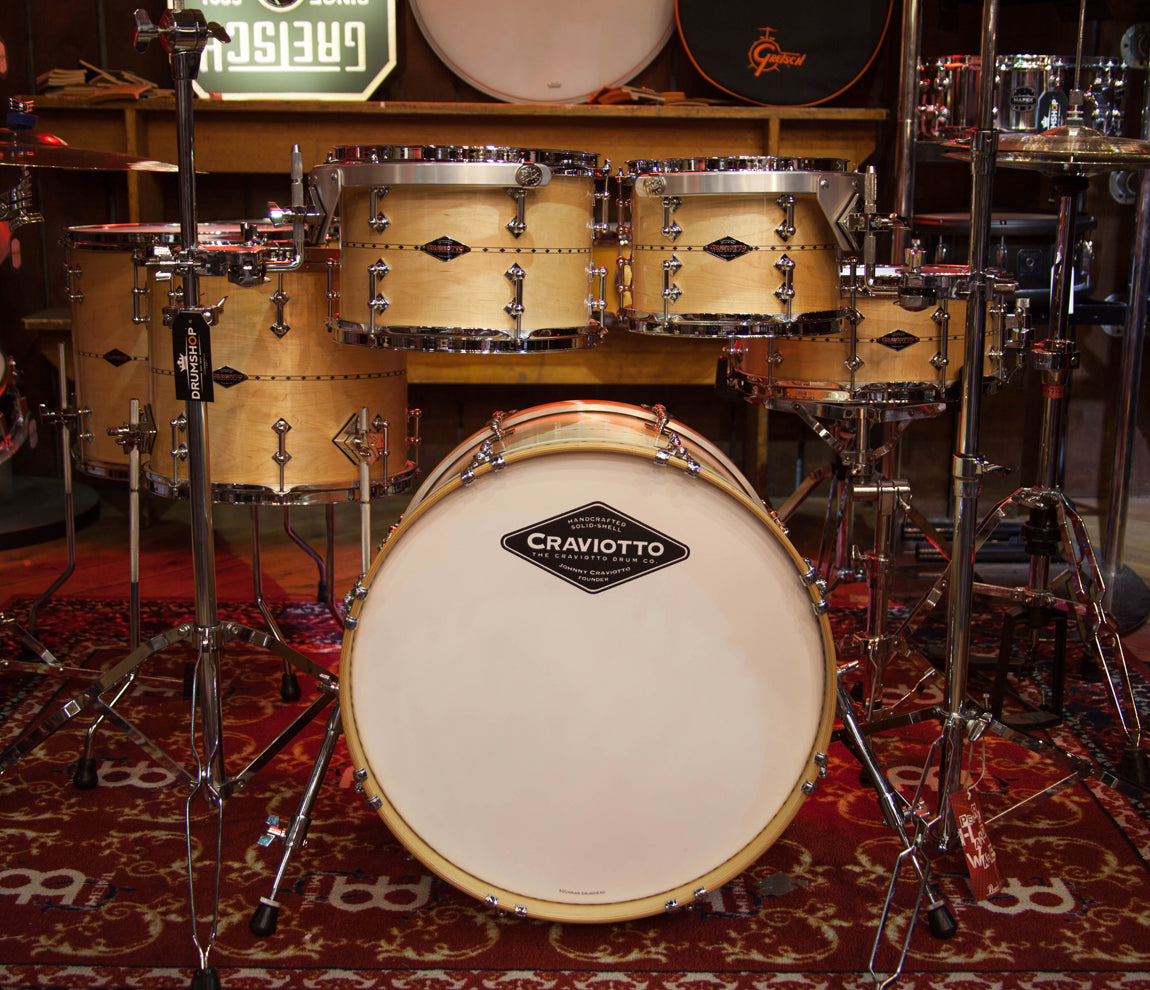 Craviotto USA Custom Shop 6-Piece Maple with Maple Inlay Drum Kit, Craviotto, Acoustic Drum Kits, Maple with Maple Inlay, 6 Piece, Craviotto USA Custom Shop, Acoustic Drum Kits