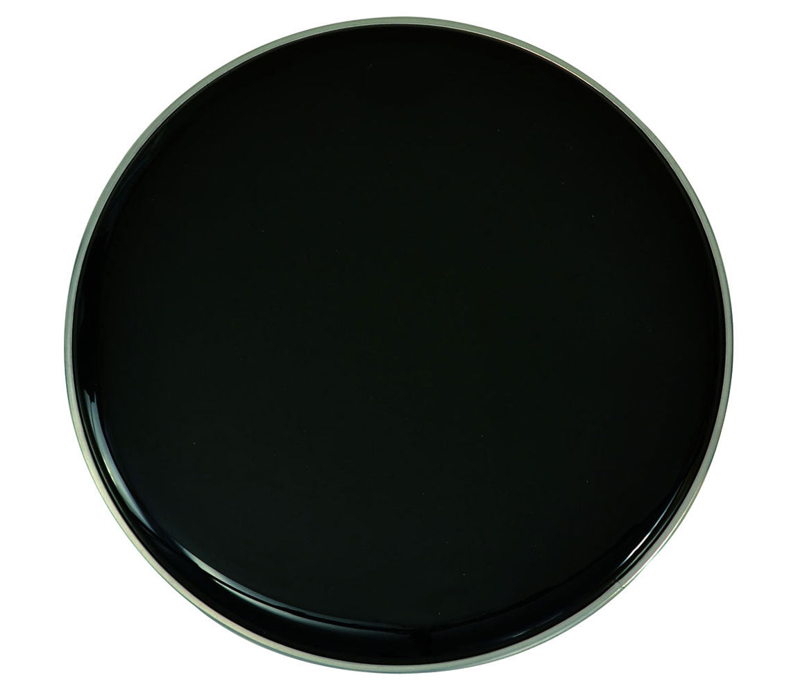 custom percussion 18 black resonant bass drum head with control ring drum shop. Black Bedroom Furniture Sets. Home Design Ideas