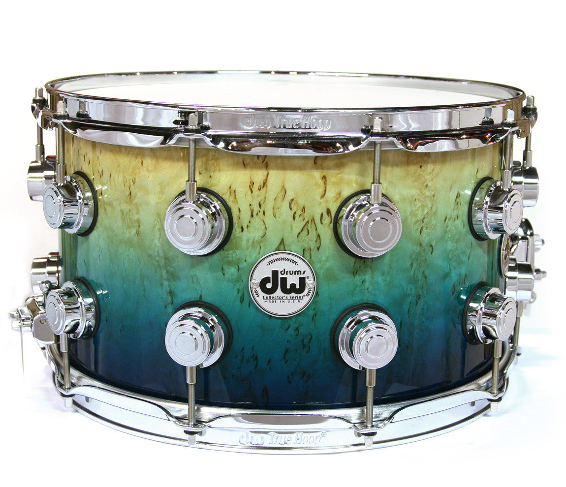 DW Exotic Kurillian Birch Regal to Royal to Natural Fade Snare Drum
