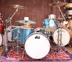 DW Jazz Series Dave Grohl 4-Piece Shell Pack in Laser Blue Lacquer