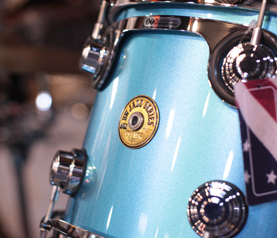 DW Jazz Series Dave Grohl Laser Blue Lacquer Drum Kit