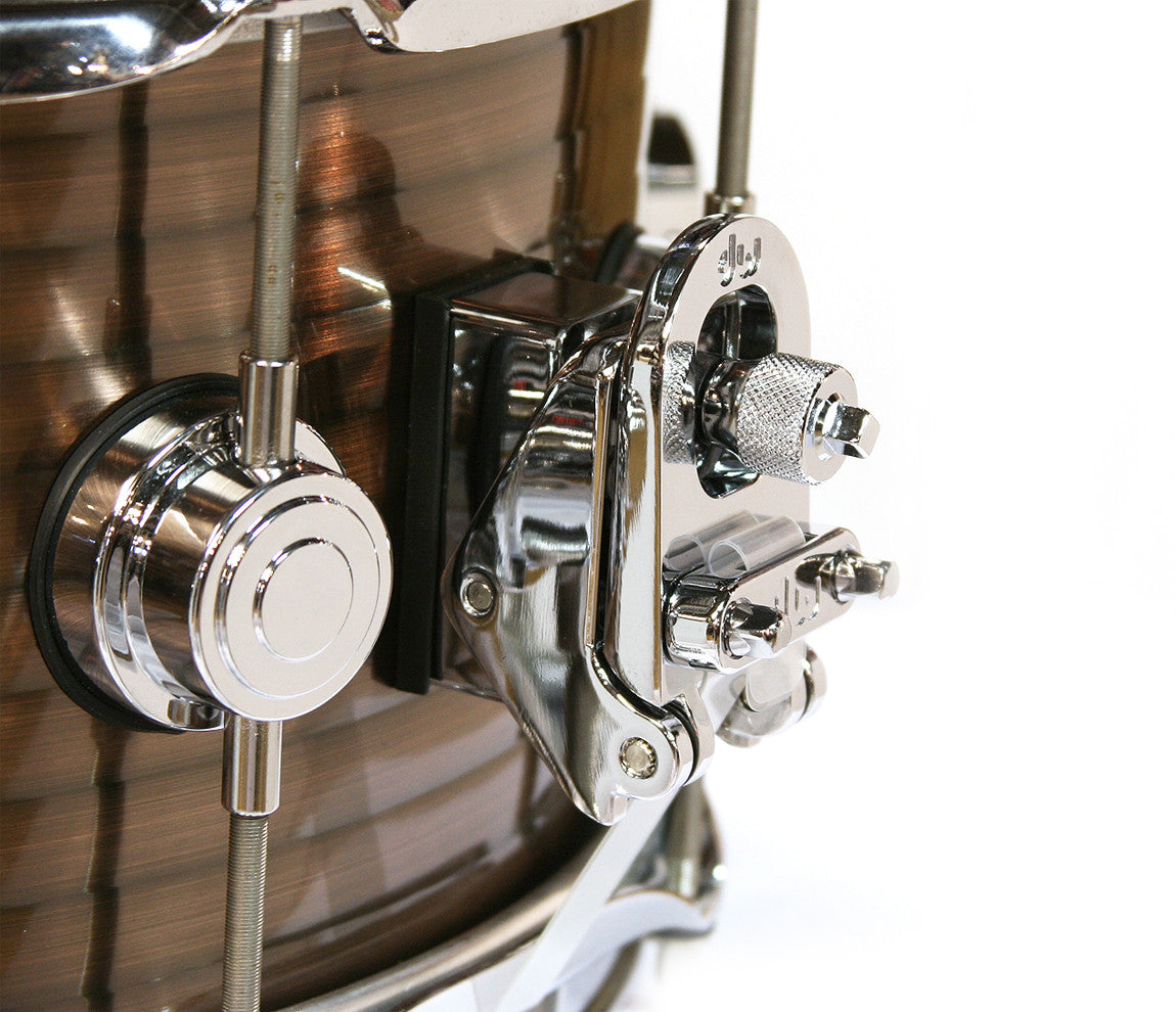 DW Ribbed Vintage Steel Snare Drum Copper Finish