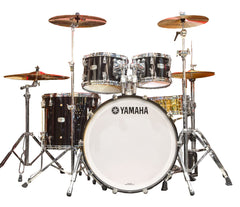 YAMAHA MAPLE HYBRID 4-PIECE SHELL PACK IN SOLID BLACK