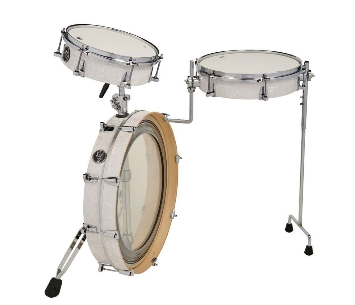 DW Performance LowPro 3-Piece in White Marine, DW Drum Workshop, Acoustic Drum Kits, 3-Piece, White Marine
