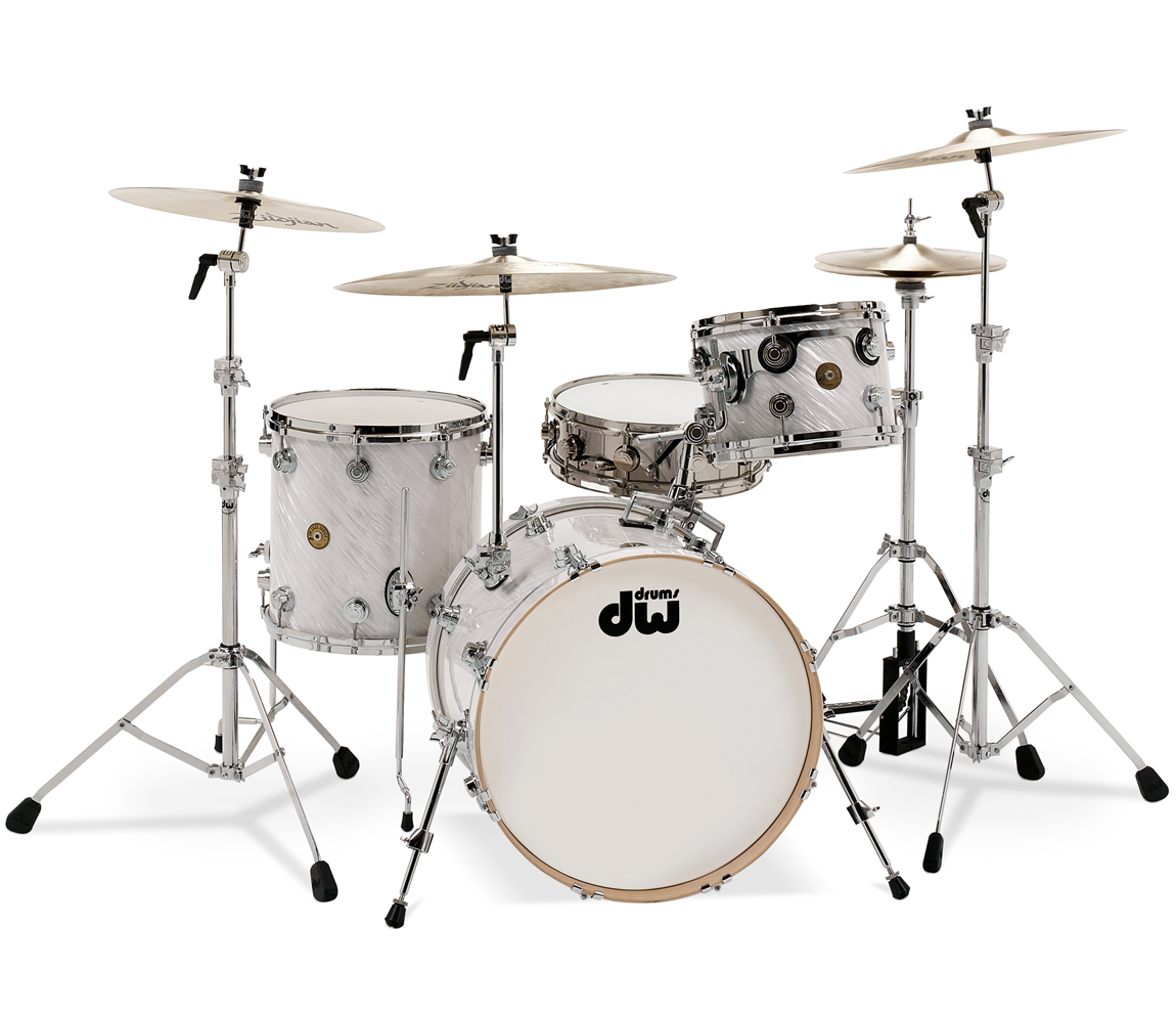 dw jazz series 3 piece shell pack in twisted white satin drum shop. Black Bedroom Furniture Sets. Home Design Ideas
