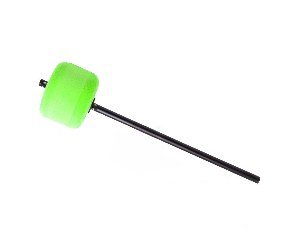 Danmar Colour Kick Felt Bass Drum Beater in Green with Black Shaft, Danmar, Beaters, Bass Drum Beater, Colour Kick