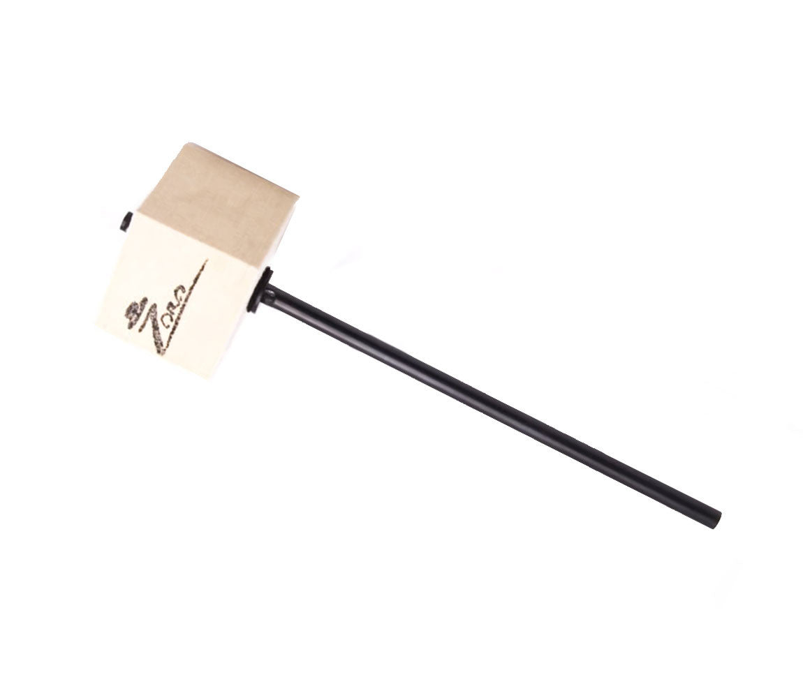 Danmar Zoro Signature Bass Drum Beater with White Felt Square Head & Black Shaft, Zoro Signature Beater, Danmar, Beaters, Bass Drum Beaters, Zoro