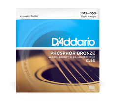 Daddario Phosphor Bronze Acoustic Guitar Strings - Lite
