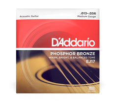 Daddario Phosphor Bronze Acoustic Guitar Strings - Medium
