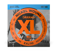 Daddario XL Nickel Wound Electric Guitar Strings -  Regular Lite