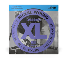 Daddario XL Nickel Wound Electric Guitar Strings -  Medium Blues/Jazz Rock