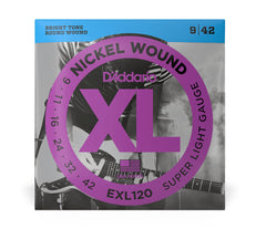 Daddario XL Nickel Wound Electric Guitar Strings - Super Lite