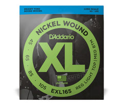Daddario XL Nickel Wound Electric Bass Guitar Strings - Custom Light