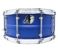 Pork Pie 14 x 6.5 Aluminium Snare Drum Painted in Dodger Blue