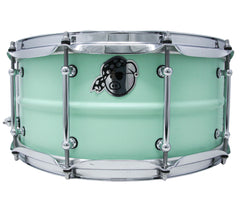 Pork Pie 14 x 6.5 Aluminum Snare Drum in Sea Foam Green