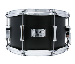 Pork Pie 12 x 7 Little Squealer Snare Drum Birch Maple in Flat Black Lacquer