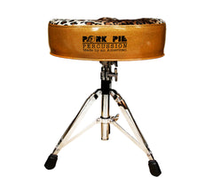 Pork Pie Big Boy Drum Throne Gold Sparkle with Leopard Top inc. Base