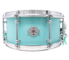 Dunnett Classic 14 x 6.5 Sea Foam Carbon Steel Snare Drum - 'Waring'