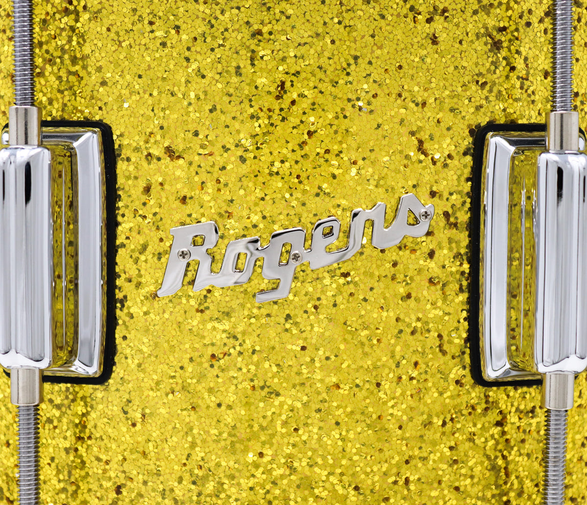 Rogers Dyna-Sonic Beavertail Lugs Gold Sparkle Laquer 14