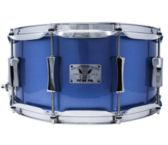 Pork Pie 14 x 6.5 Squealer Snare Birch Mahogany in Porcaro Blue
