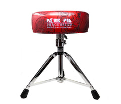 Pork Pie Special Edition Red Skull Drum Throne