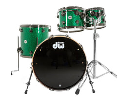 Drum Workshop Collectors Series 4 Piece Drum Kit in Green Glass With Black Nickel H/W
