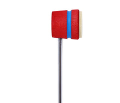 Low Boy Lightweight Felt Daddy Beater - Red with Shock Blue Stripe