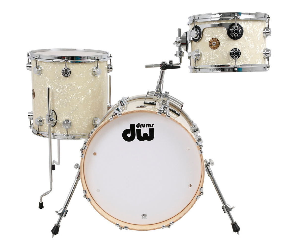 Drum Workshop Jazz Series 3 Piece Maple Gum Wood Drum Kit in Vintage Marine, DW Drum Workshop, Acoustic Drum Kits, Drum Lounge, Vintage Marine, 18