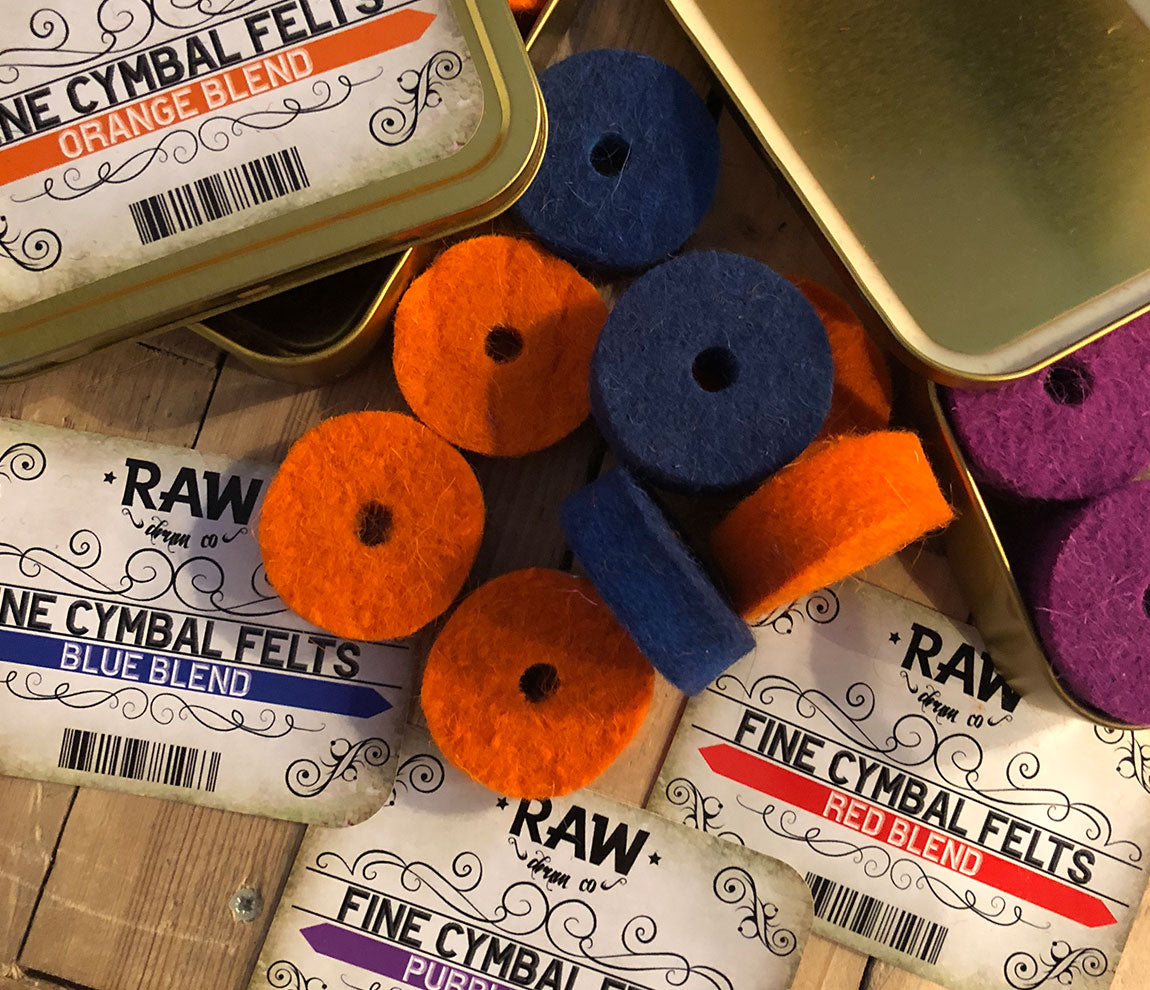 RAW Drum Co Fine Cymbal Felts