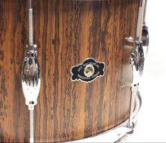 Geo-Way Badge on Tradition Bocote Snare Drum