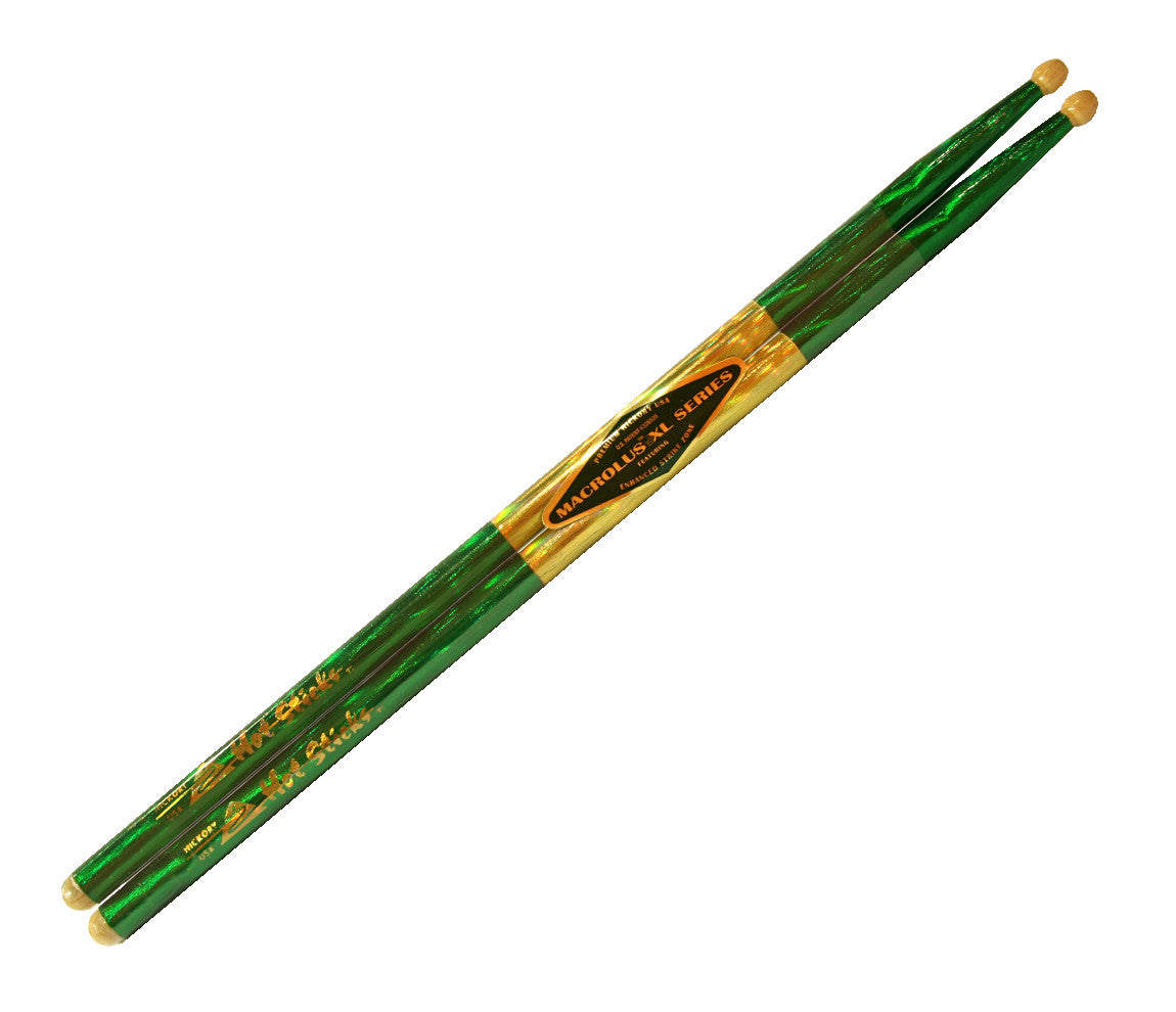 Hot Sticks Green Macrolus Series Drumsticks