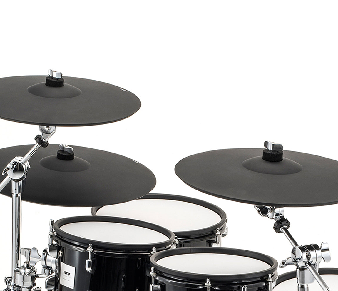 ATV aDrums Artist Standard Electronic Drum Kit with Module, ATV, Electronic Drum Kits, Solid Black Lacquer, 18