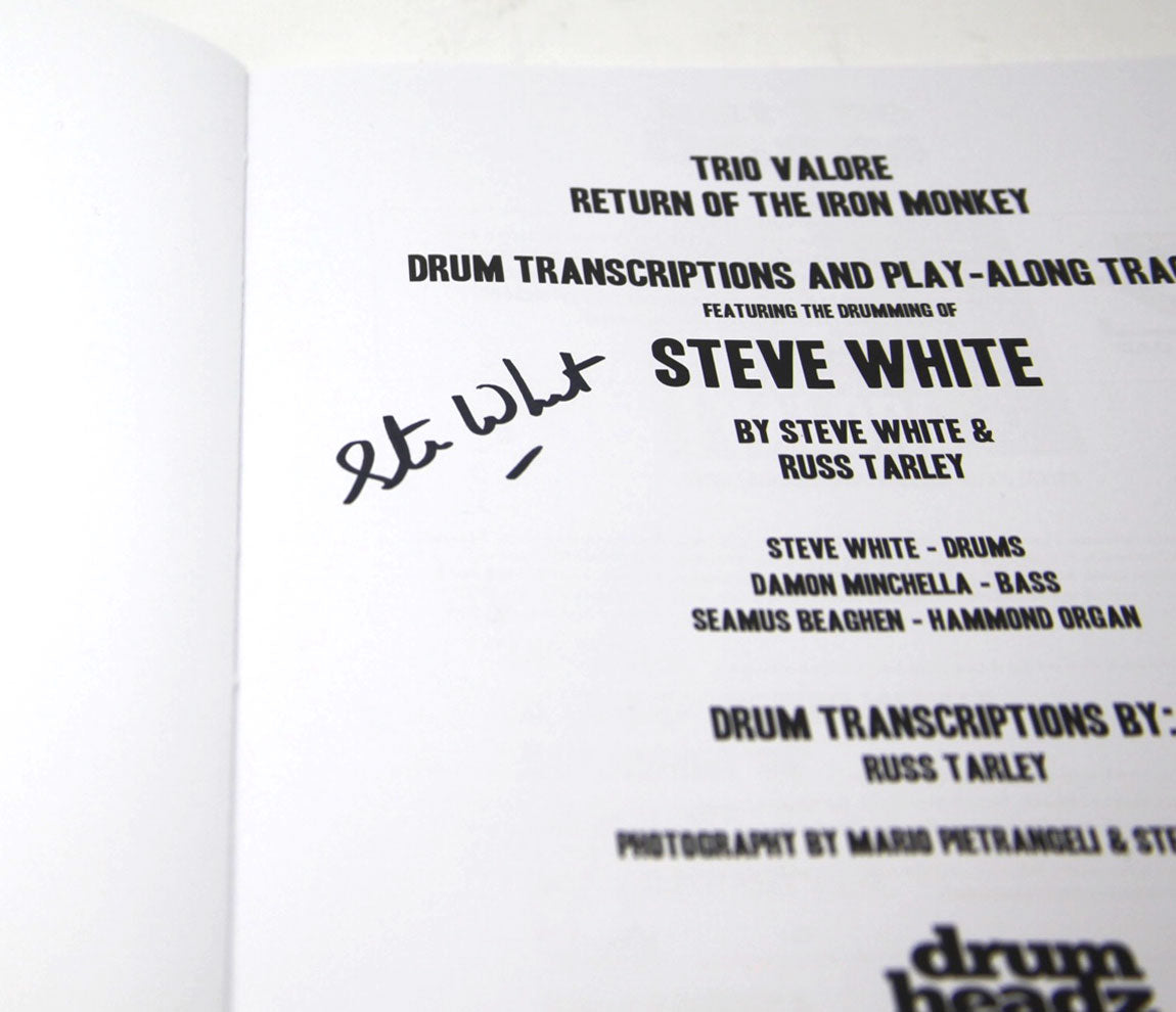 Just the Drums - Trio Valore and The Family Silver Play Along Books (Signed by Steve White)