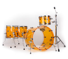 Natal Arcadia 4-Piece Shell Pack in Transparent Orange Acrylic Finish