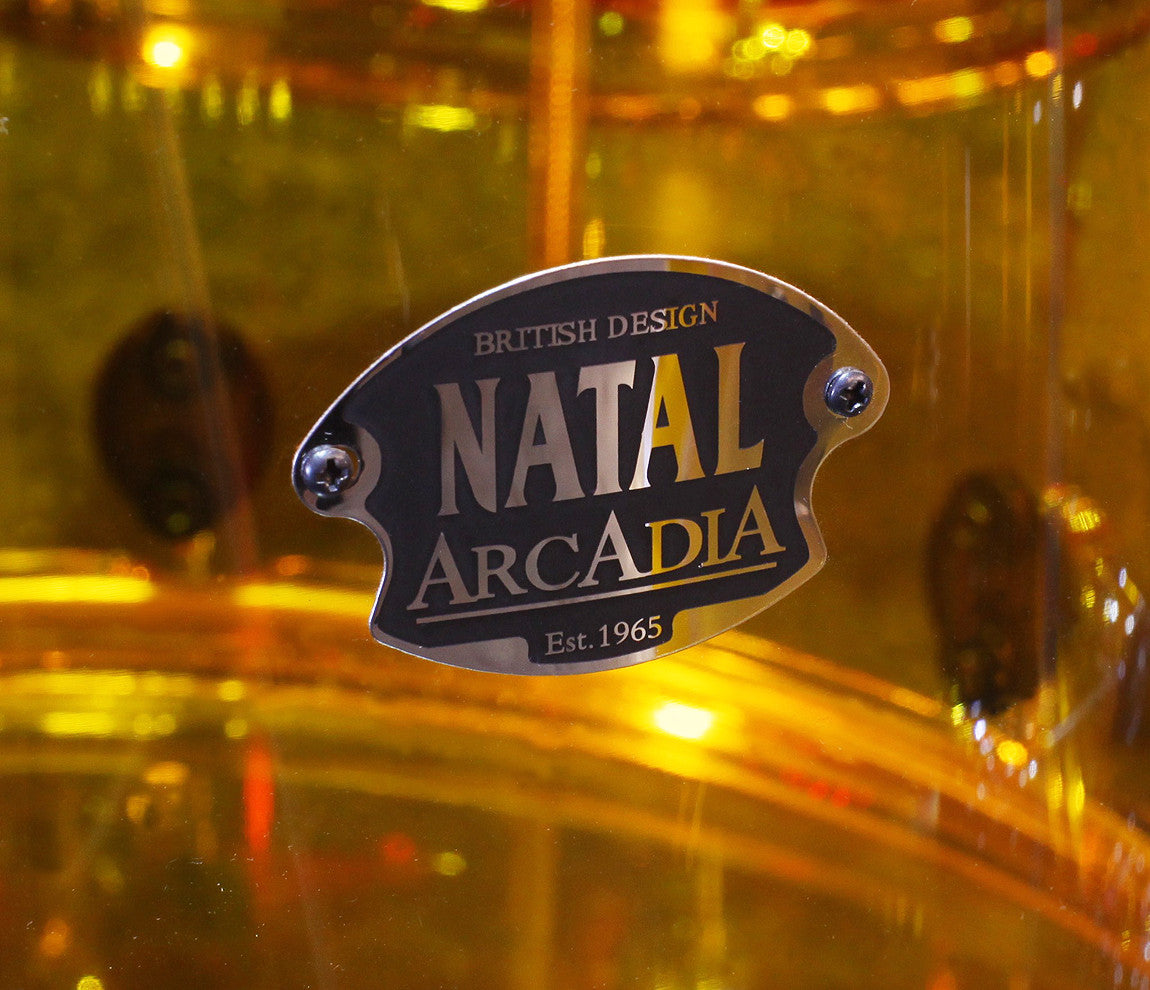 Natal Arcadia Transparent Orange Acrylic Drum Kit