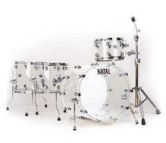 Natal Arcadia 4-Piece Shell Pack in Transparent Clear Acrylic Finish