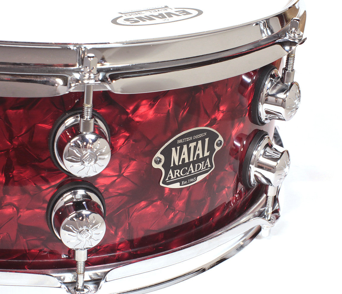 Natal Arcadia Badge Red Oyster Snare Drum